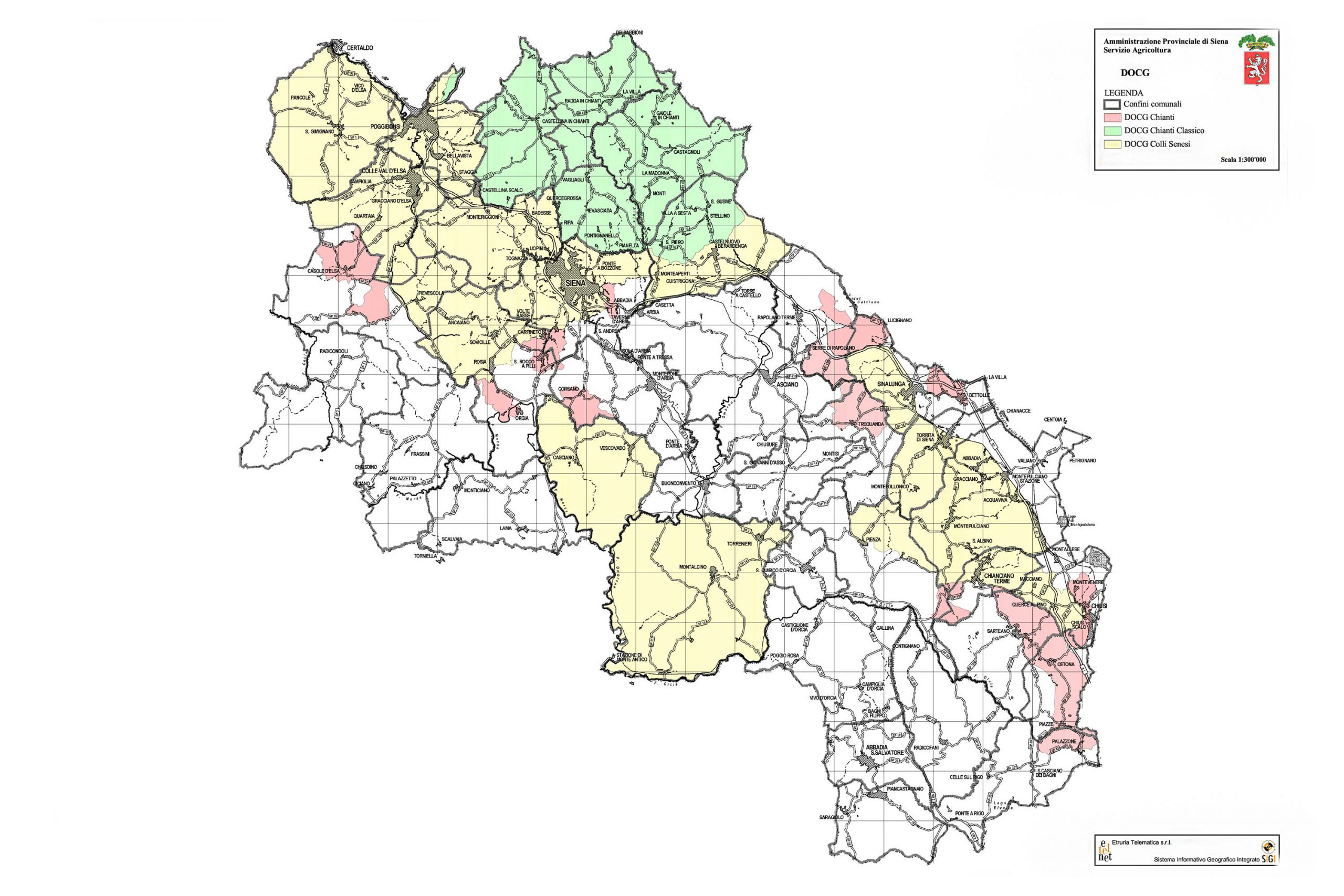 Mappa Dogc Chianti